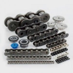 Drive chain is a machine element that transmits the power of a motor or the like as tension to driven machinery via sprockets. Features include: large reduction ratio, high flexibility in the distance between shafts, both sides can be used for multi-axis shaft transmission, etc.