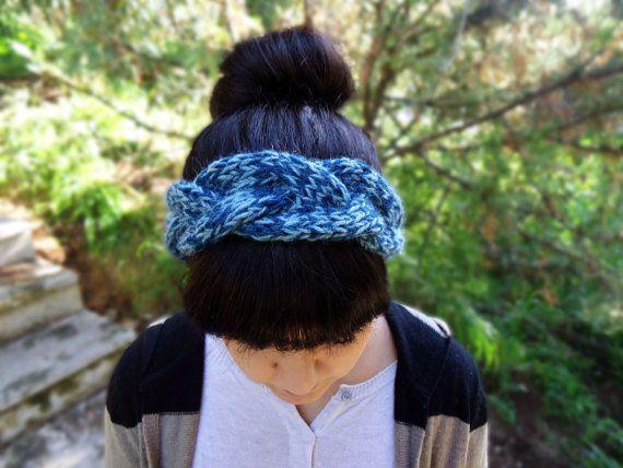 Hand knit womens headband knitted wool headband by AlkistiKnits #headband #headwrap #knitheadband #handmade