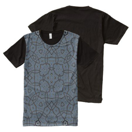 Abstract Pattern blue All-Over-Print T-Shirt - click to get yours right now!