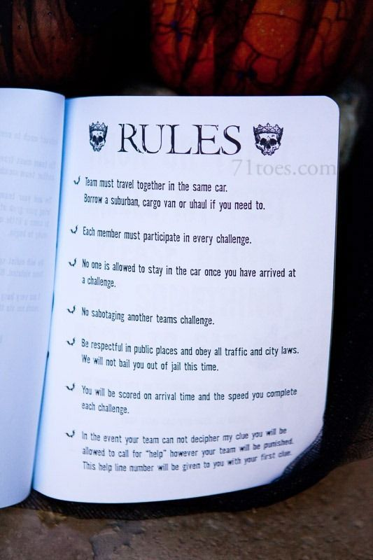halloween challenge group relay games for couples - Halloween Party Rules