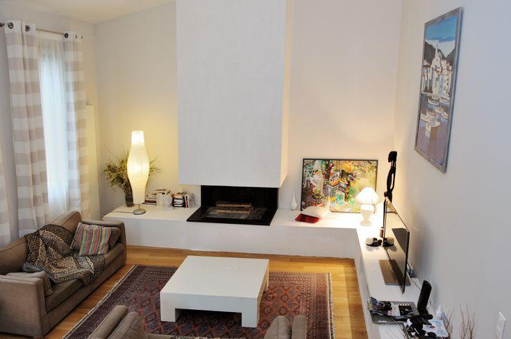 36 best mur de tv images on pinterest fire places. Black Bedroom Furniture Sets. Home Design Ideas