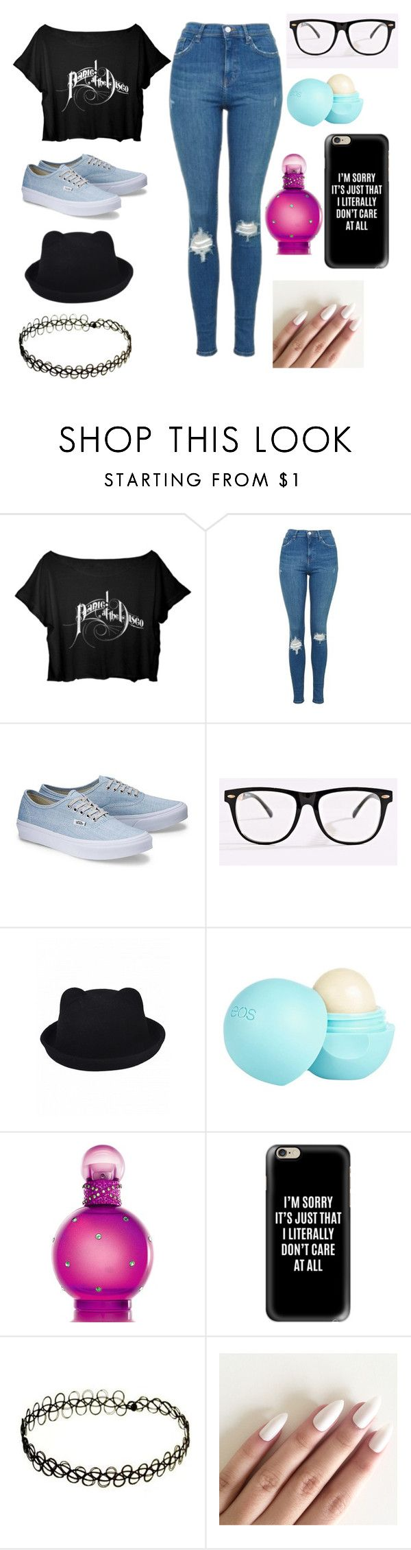 """""""- PANIC AT THE DISCO OUTFIT -"""" by hartney-figg ❤ liked on Polyvore featuring Topshop, River Island, Britney Spears and Casetify"""
