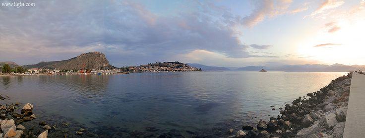 Sunset in the #Argolic Gulf, #Nafplio - #Greece