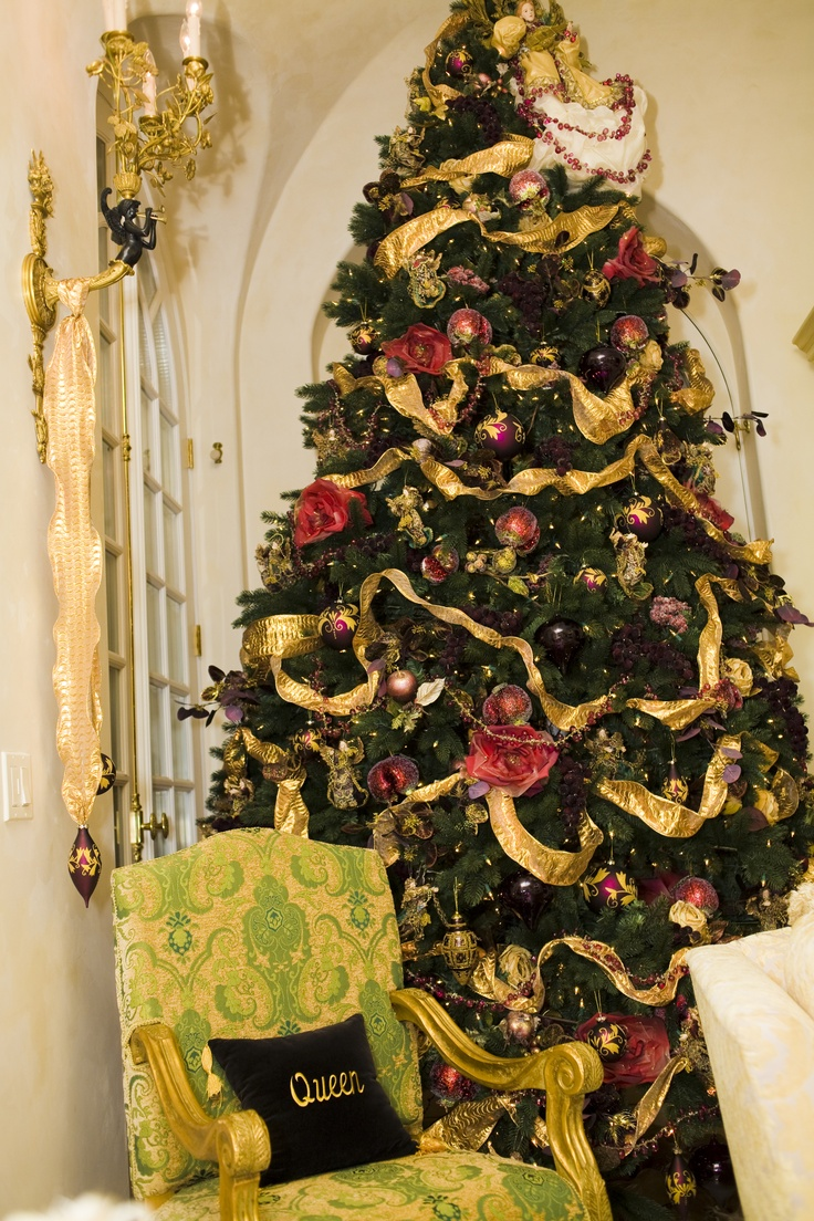 """Oh Christmas Tree!  Oh Christmas Tree!  Our clients tree in her gold room.    """"A Versaille Christmas in California"""".    Tres Fabu Event Planning and Design  www.TresFabuEvents.com: Christmas Inspiration, Christmas 2013, Christmas Celebrity, Christmas Snow, Christmas Magic, Christmas Splendor, Christmas Decor, Blessed Christmas, Christmas Trees"""