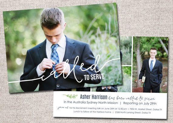 LDS Missionary, Missionary farewell invitation, Elder, Printable (Called to Serve Missionary farewell invitation 2 sided)