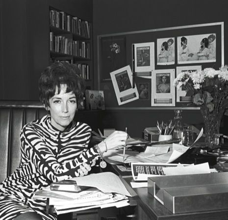 Agree or disagree with her 'Sex and the Single Girl' politics, Helen Gurley Brown is a fascinating figure as the editor-in-chief of Cosmopolitan Magazine for the better part of 30 years. It is inspiring to see a woman, during the 1960s in particular, be able to work her way up to such a prominent position in the publishing industry. I give full credit for this image to: http://www.newyorker.com/arts/critics/books/2009/05/11/090511crbo_books_thurman