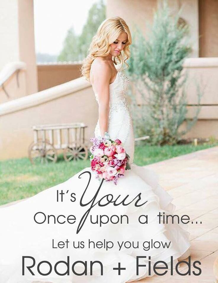 Calling all brides and the bridal party! The dress and tux are worn once and captured in memories and photos for ever. Your skin is seen every day and captured in memories for always. Get the best skin of your life with rodan and fields.   Www.sjellema.myrandf.com