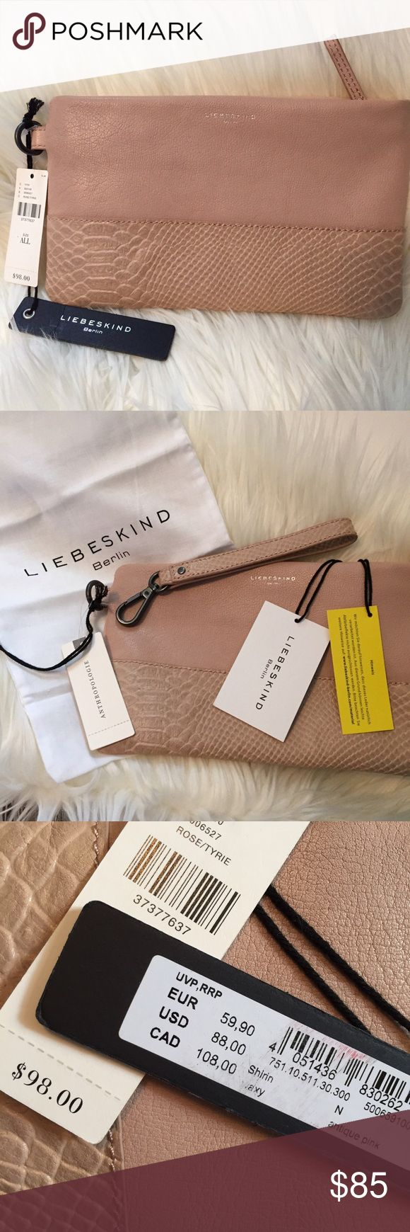 Anthropologie Liebeskind clutch leather wallet Brand new. Absolutely soft and supple leather clutch from Anthropologie / Liebeskind brand. Anthropologie Bags Clutches & Wristlets