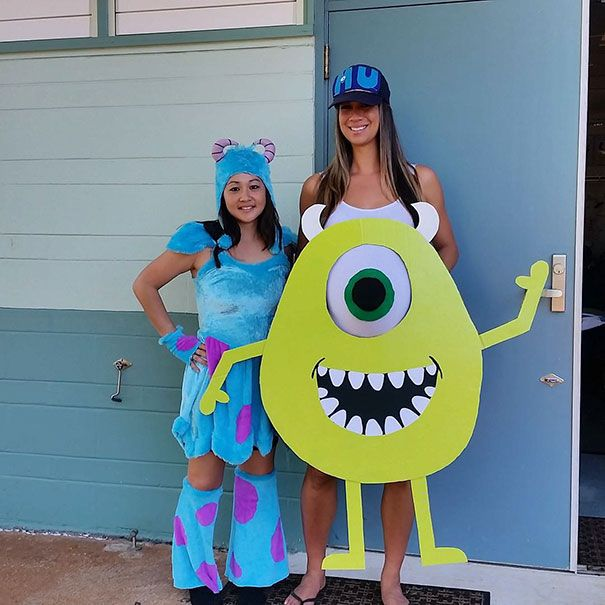 monsters inc best pregnant halloween costume ever - Monsters Inc Baby Halloween Costumes
