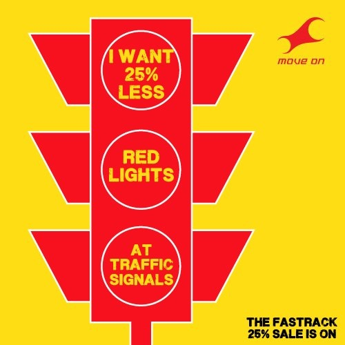 I want 25% less red lights at traffic signals #25reasonstoshop Flat 25% OFF on Bags, Belts, Wallets & Sunglasses!