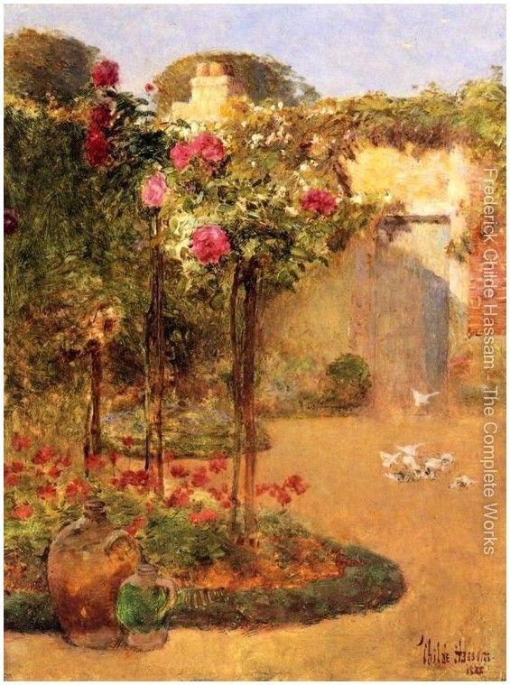 Художник Frederick Childe Hassam | 1859-1919гг.. Обсуждение на LiveInternet - Российский Сервис Онлайн-Дневников The Rose Garden.