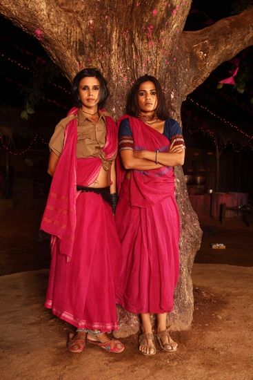With Madhuri Dixit, on the sets of 'Gulaab Gang'