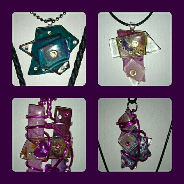 Lasikoruja. Glass -jewellery by HM-koru.