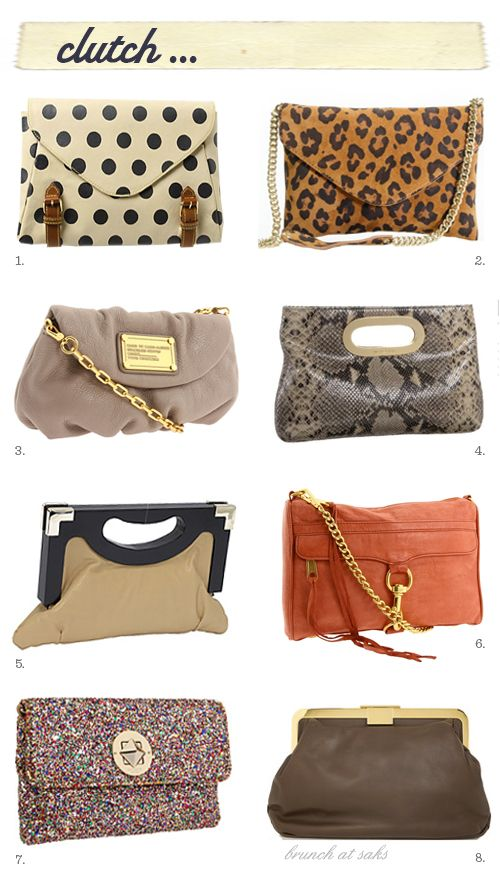 clutch (I carry waaaay too much stuff to ever carry a clutch but they are cute.