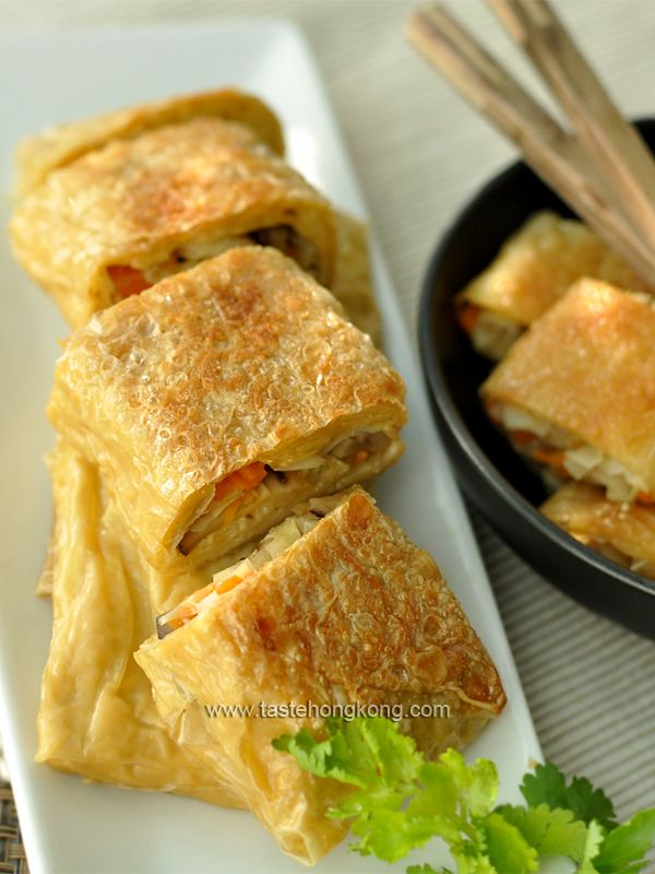 Yuba Wraps (Beancurd Sheet Rolls) – a Traditional Chinese Vegetarian Dish   Hong Kong Food Blog with Recipes, Cooking Tips mostly of Chinese and Asian styles   Taste Hong Kong