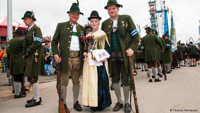 Hats off! Traditional dress at the Oktomberfest. Germany, 24 September, 2015.