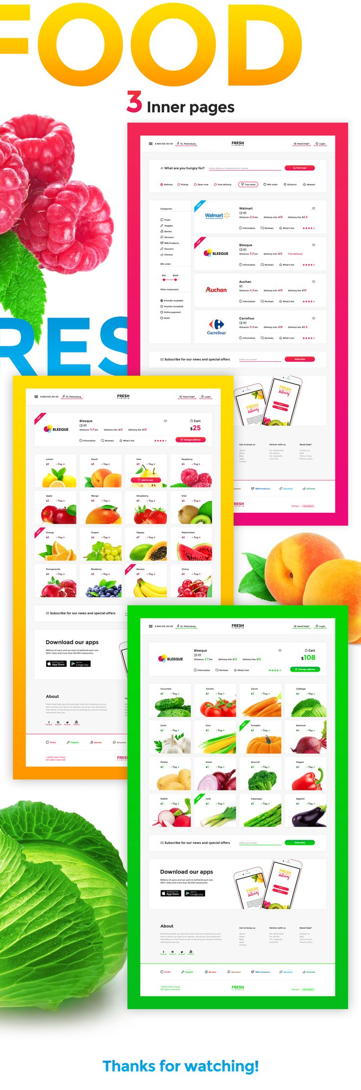 Fresh Food Delivery helps you find and order healthy food from wherever you are.