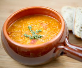 Ginger Butternut Red Lentil Soup