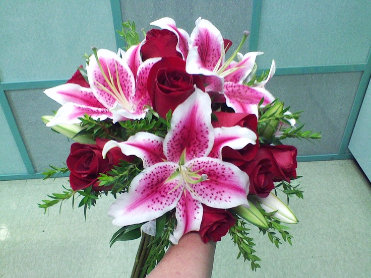 Stargazer Lily Wedding Bouquet