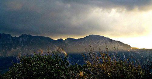 Sun emerging over Besparmak Mountains after storm, North Cyprus. https://www.flickr.com/photos/glittergoddess/15996389410/in/photostream/
