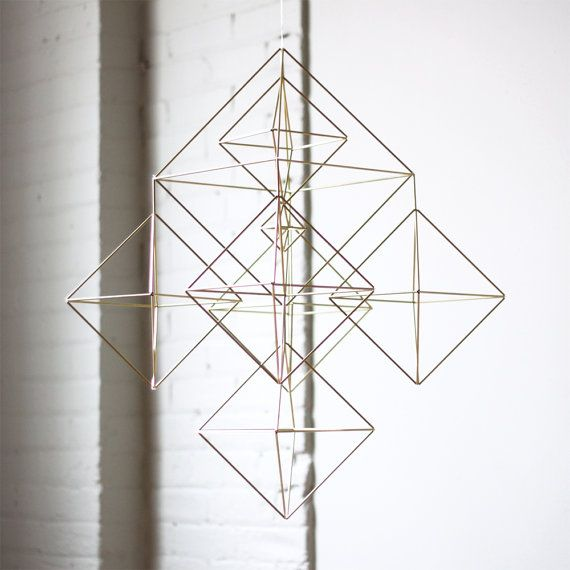 Himmeli no. 2 Modern Hanging Mobile Geometric Art by HRUSKAA