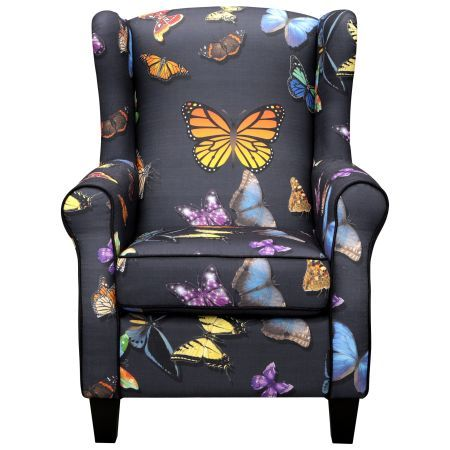 Macédes+Fly+-+Fauteuil+-+Vlinder+Multi,+Multi+colour #butterfly #chair #interior #furniture #myhomeshopping