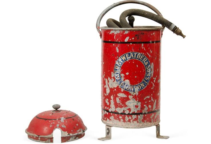 Vintage fire extinguisher.