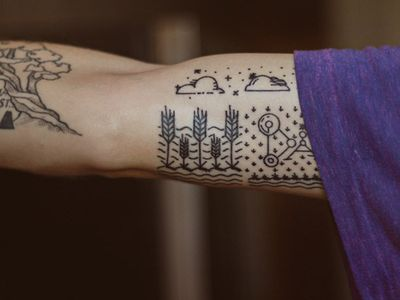 (via Dribbble - Simple tattoo by Kirk Wallace) Simple tattoo by Kirk Wallace