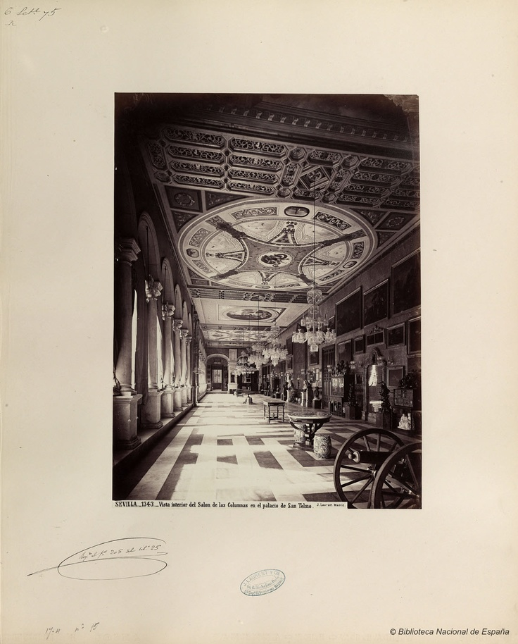 Interior of San Telmo Palace. Photo by J. Laurent. National Library of Spain.
