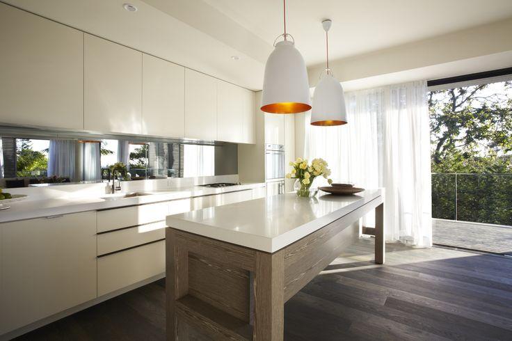 Tongue n groove european oak otta boards contrasting for Earthy kitchen designs
