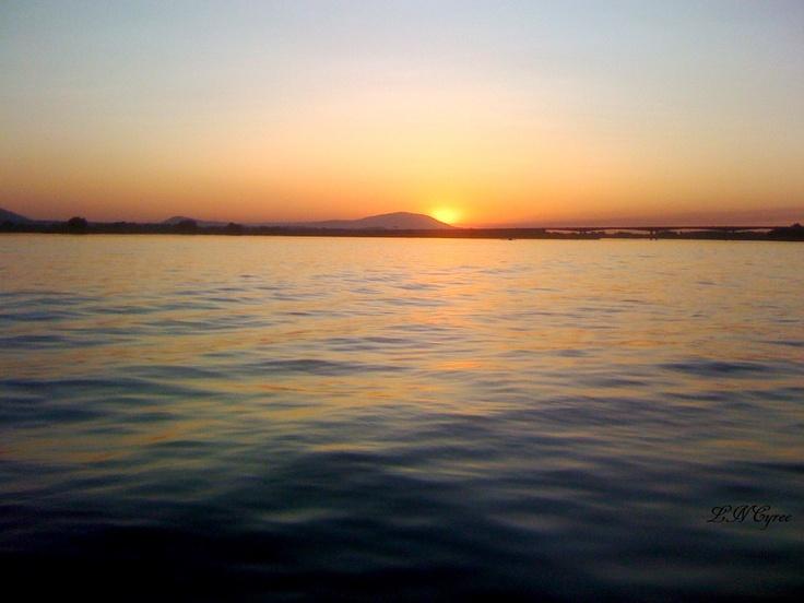 Columbia River At Sunset Kennewick Washington