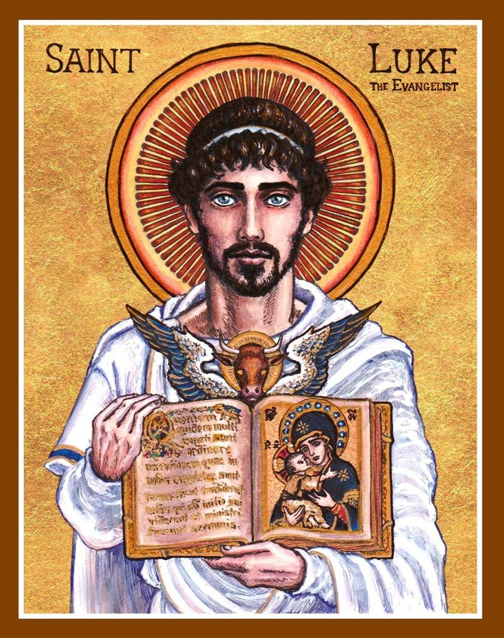 Today is the #FeastDay of St. Luke the Evangelist - Patron saint of artists, bachelors and doctors!