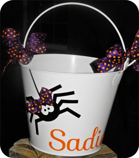 Personalized Halloween Bucket Lots of Designs by UPersonalized, $22.00