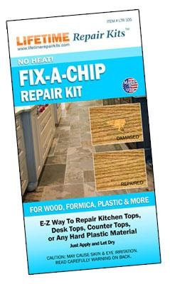 No Heat Fix A Chip For Wood Formica Plastic Amp More