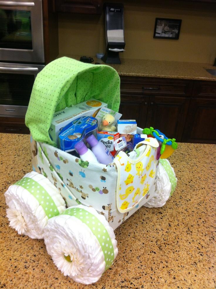 Diaper Cake Bassinet Cute Idea Baby Shower Pinterest