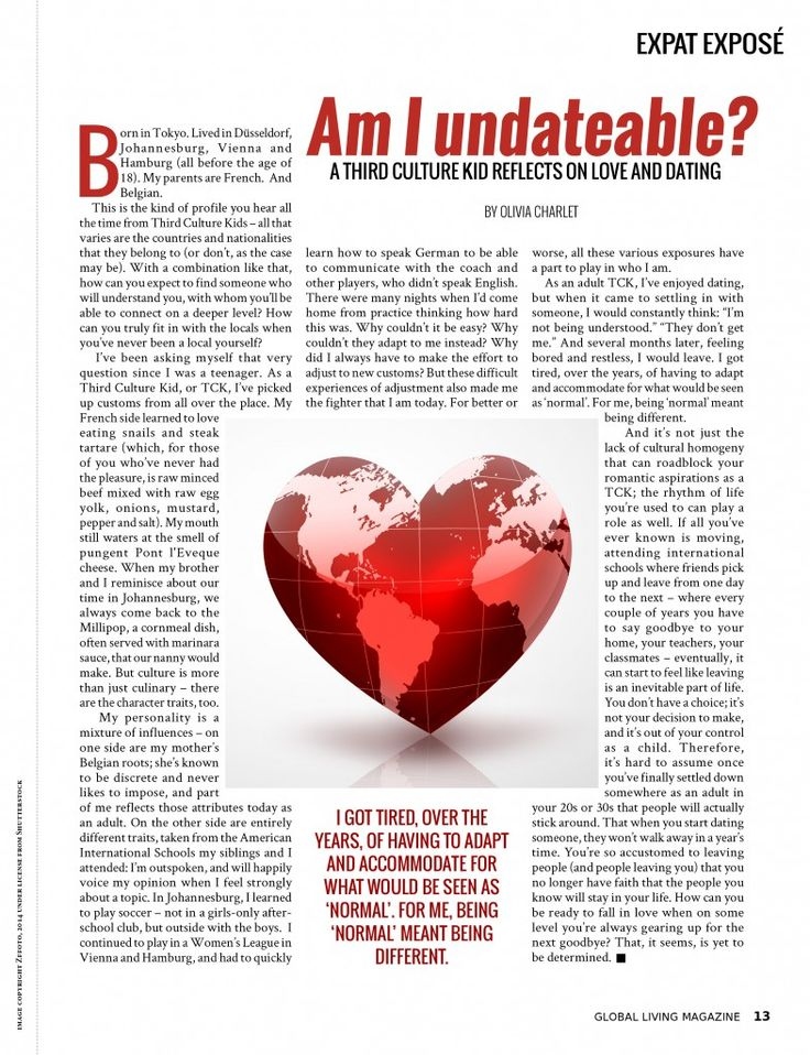 Dating magazine articles