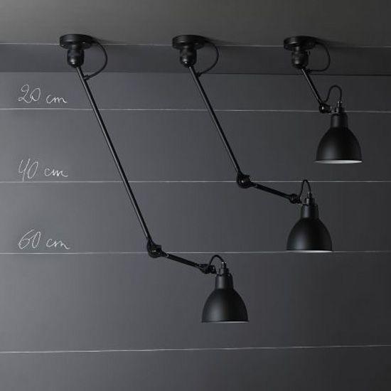 Wandleuchte/Deckenlampe N° 304 mit Gelenkarm 40/60 cm *Gelenkarm-Deckenleuchten im Vergleich: Das kurze Modell rechts führen wir als separaten Artikel