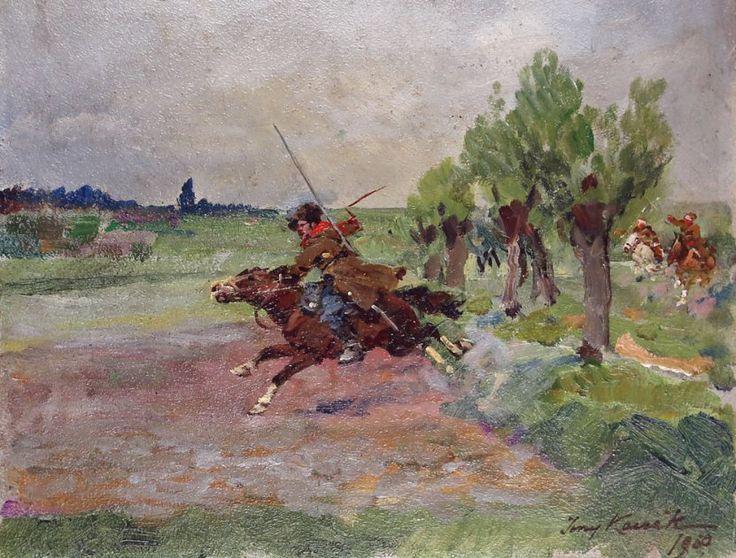 Jerzy KOSSAK (1886-1955) 'Pościg za bolszewikami'