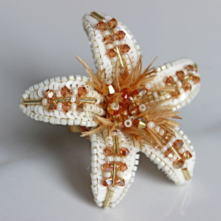 One of two rings I made these days. Sequins. Delica beads, ostrich feathers and of course Swarovski crystals.  Одно из сделанных в эти дни колечек. Пайетки, бисер Делика, перья и, конечно же, кристаллы Сваровски. Мои любимые!  #ohmymusejewelry #ohmyring #ring #flowerring #flower #petals #creamwhite #cream #white #statementring #cocktailring #hugering #sold #etsy #fashion #embroideryart #embroidery #украшения #цветок #кольцо #кольцоцветок #кремовый