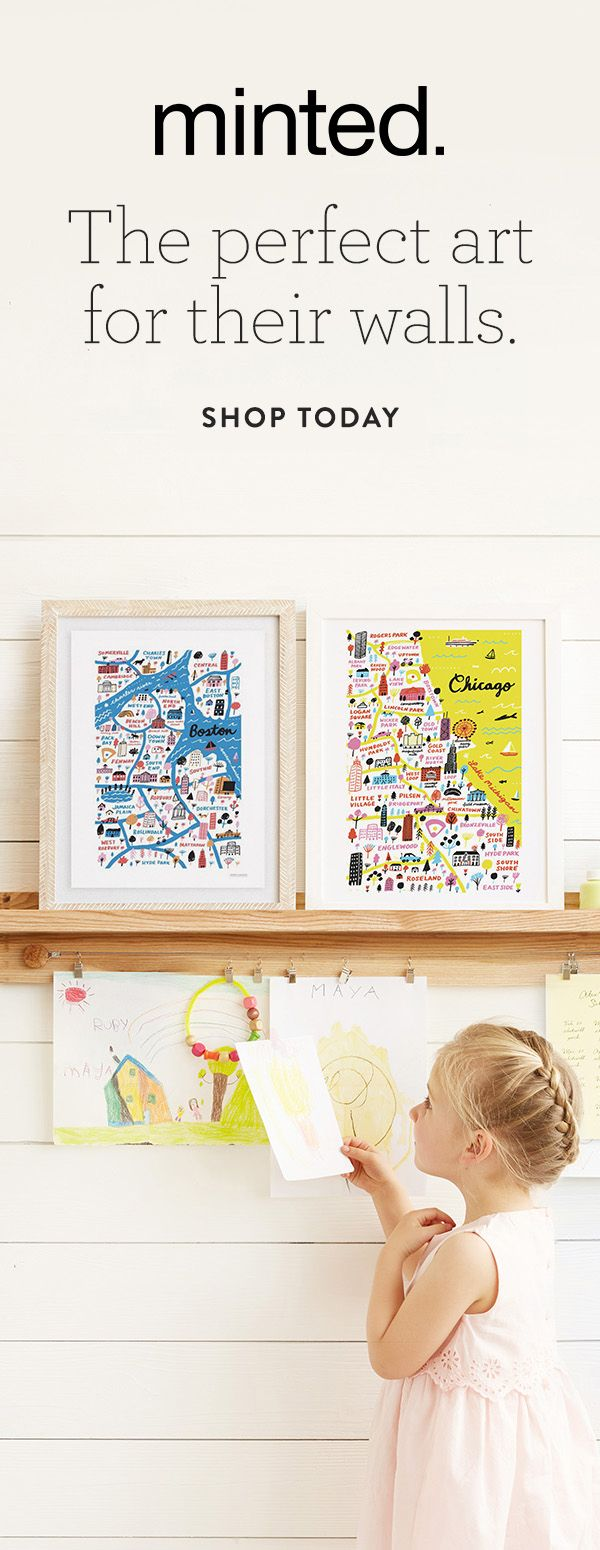 Hand-drawn maps. Choose their hometown or favorite destination. Multiple cities available.