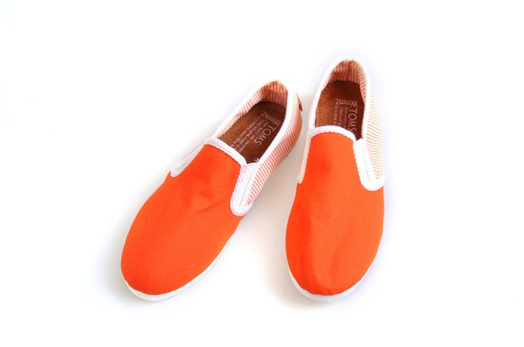 Toms women shoes with university orange