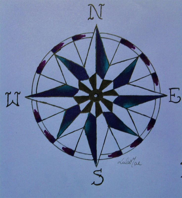 how to draw an e compass