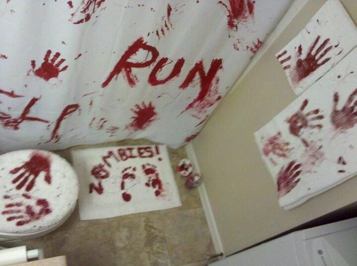 12 best ideas about zombie on pinterest halloween for Zombie bathroom decor
