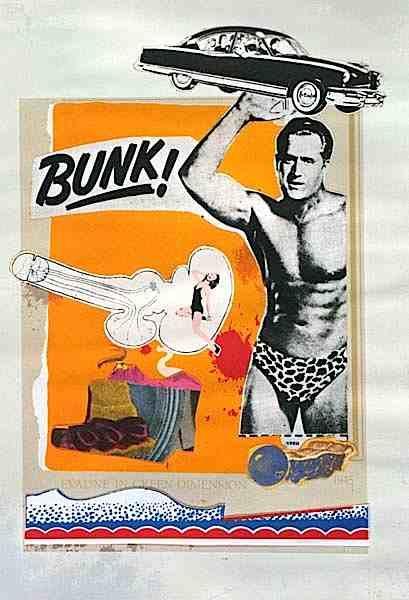 Bunk I, Evadne in green dimension, Eduardo Paolozzi, 1952