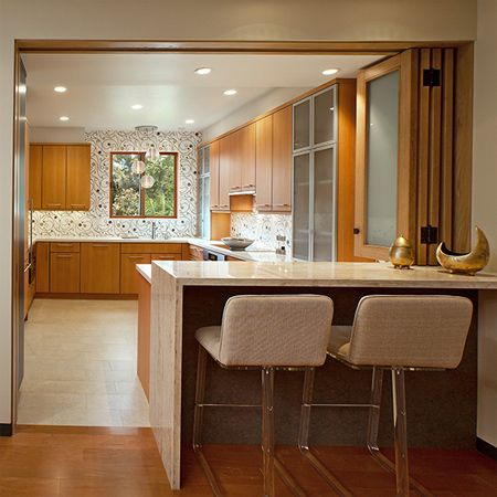 closing off an open plan kitchen or semi open plan kitchen design - Open Kitchen Design Ideas