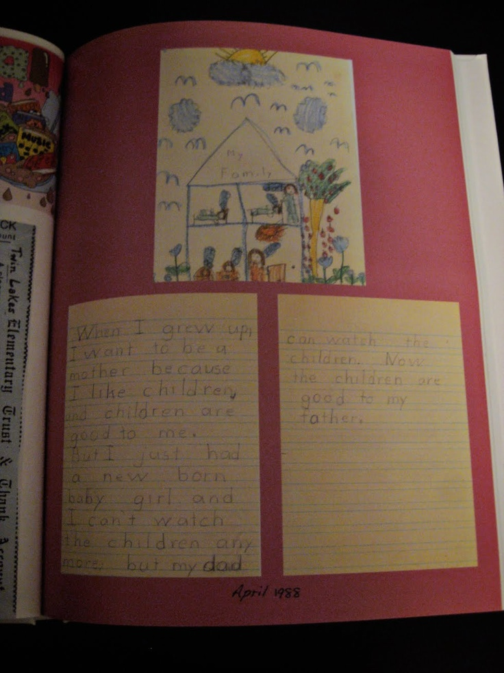 """What to do with all the old school work and letters you have from my childhood? Scan them in and turn them into a """"Blurb"""" book.  This blogger also gives tips on how she turns her blog into books. Just search for """"Blurb"""" and those posts will come up."""