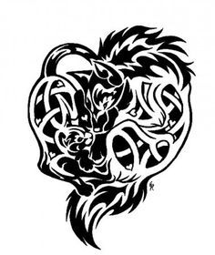 die besten 25 keltischer wolf tattoo ideen auf pinterest wolf pfote tattoos irish celtic. Black Bedroom Furniture Sets. Home Design Ideas