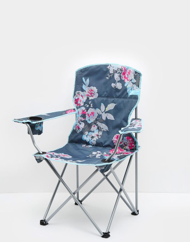 Lazy Grey Floral Pack Away Picnic Chair , Size One Size | Joules UK