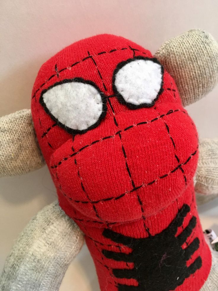 A personal favorite from my Etsy shop https://www.etsy.com/ca/listing/262263778/cosplaying-spiderman-sock-monkey-peter