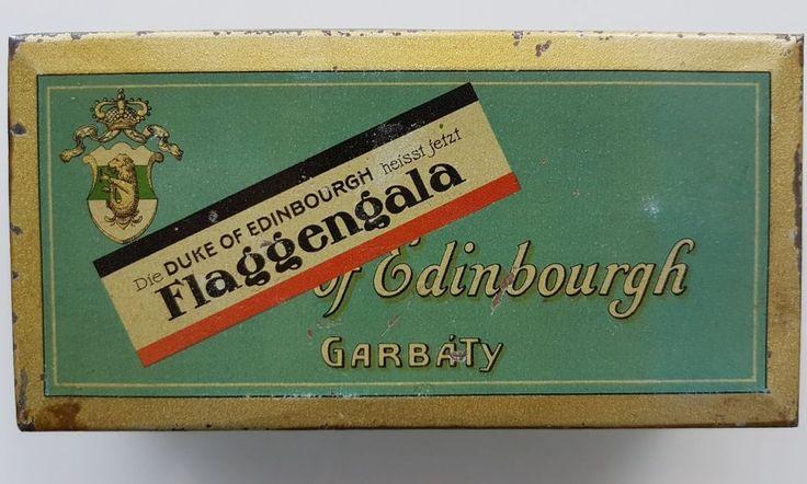 (Henry Collection) WW 1 Zigarettendose Garbaty Flaggengala 100er Blechdose 1915